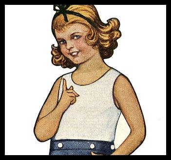 Vintage Kids Printable – Scottish Girl Paper Doll