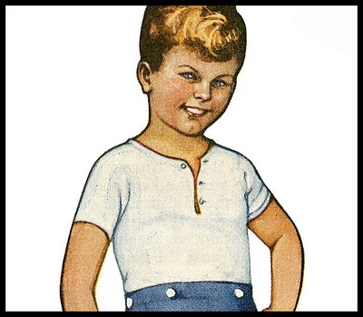 Vintage Kids Printable – Scottish Boy Paper Doll