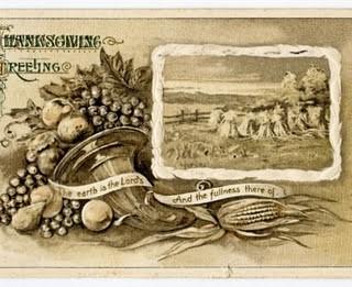 Free Vintage Clip Art – Thanksgiving Postcard