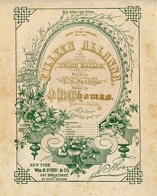 Vintage Ephemera Clip Art – Amazing Sheet Music Frame