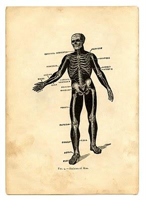 Instant Halloween Art Printable Download – Black Skeleton Man