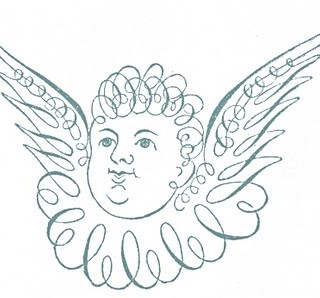 Free Antique Clip Art – Pen Flourished Cherub