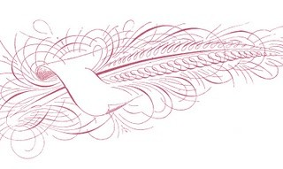 Free Antique Clip Art – Pen Flourished Feather Pen