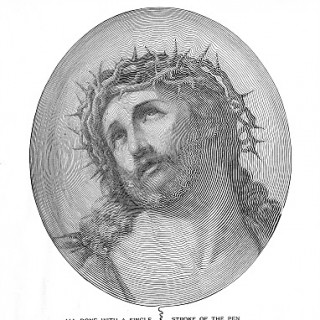 Easter Clip Art – Amazing Spencerian image of Jesus