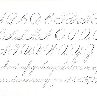 Free Antique Clip Art – Pen Flourishing Alphabet