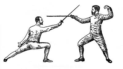 Vintage Sports Clip Art – Fencing, Tennis?, Golf