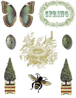 Digital Collage Sheet – Spring