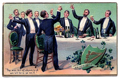 Vintage St Patricks Day Clip Art – Irish Toast