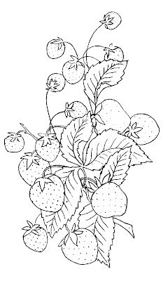 Vintage Clip Art – Strawberry Embroidery Pattern