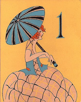 Vintage Clip Art – Charming Parasol Ladies