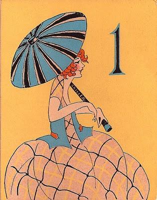 Vintage Clip Art – Charming Parasol Ladies