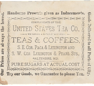 Old Typography – Tea & Coffee