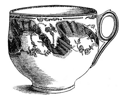 10 Black And White Teacup Clip Art Images The Graphics Fairy