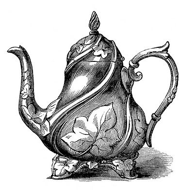 Astonishing Vintage Clip Art Garden Style Teapot The Graphics Fairy Personalised Birthday Cards Xaembasilily Jamesorg