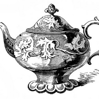 Free Vintage Clip Art – 2 Ornate Teapots