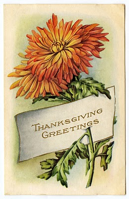 Vintage Thanksgiving Clip Art Mums Placecard The