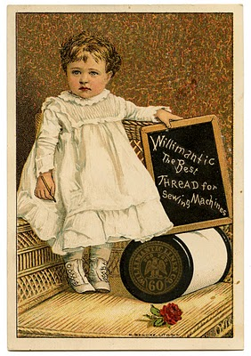 Vintage Graphic Image – Darling Toddler with Thread Spool