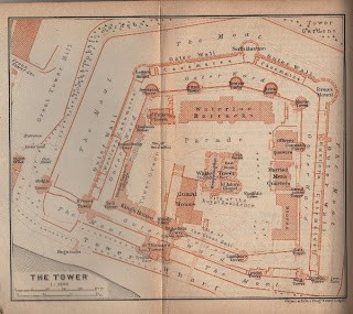 Map of London Tower