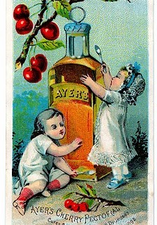 Antique Trade Card Clip Art – Cherry Medicine