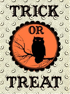 Free Halloween Printable Label-Trick or Treat Bag - The Graphics Fairy