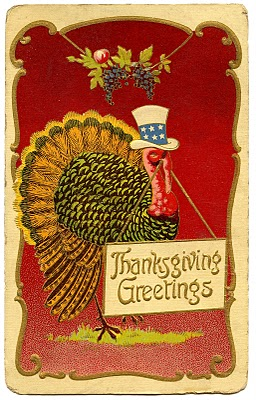 Vintage Thanksgiving Clip Art – Patriotic Turkey