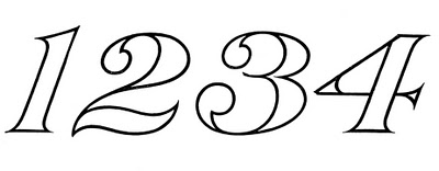 Vintage Graphic Image – Typography – Numbers
