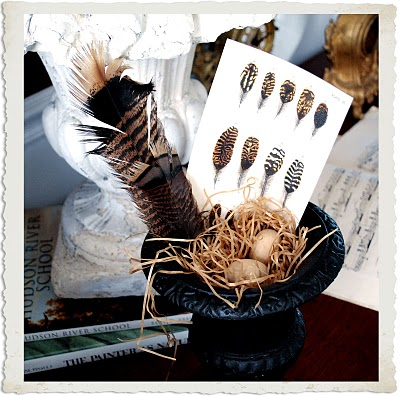 Instant Art Printable Download – Feathers – Autumn Display