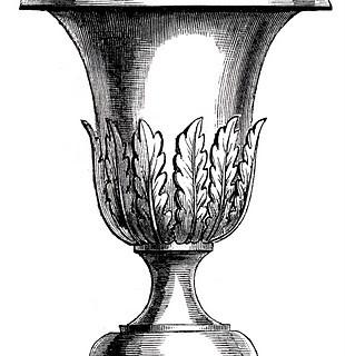 Free Vintage Clip Art – Lovely Garden Urns