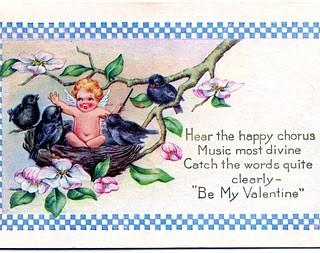 Free Valentine's Day Clip Art – Cherub in Bird's Nest