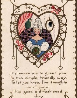 Vintage Valentine – Lady with Parrot