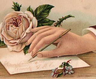 Victorian Hand with Rose 2