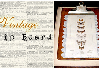 Crafty Project – Decorative Natural History Clipboard – DIY