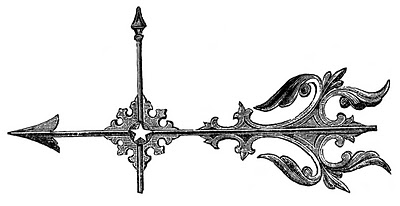 Vintage Clip Art – Weather Vanes – Scrolls, Feather, Arrow