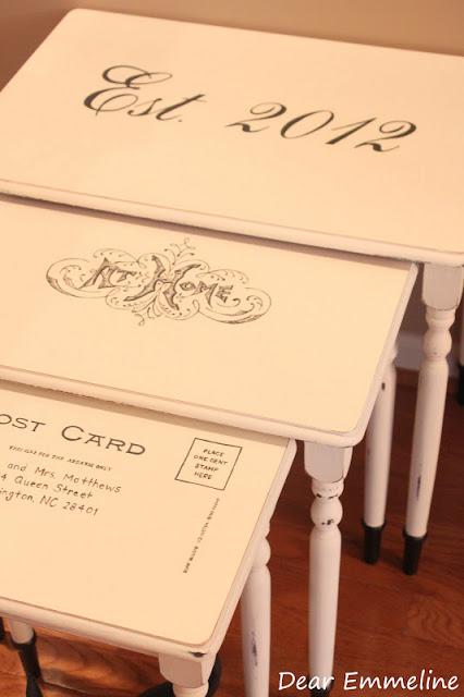 Brag Monday – Wedding Nesting Tables & Butterfly Globe