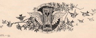 Vintage Printers Ornament – Winged Hourglass