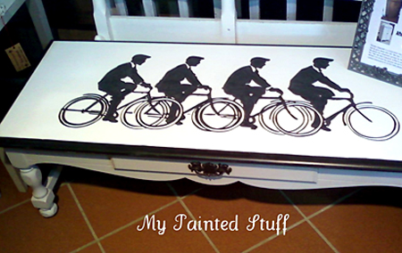 Bicycle Painted Table