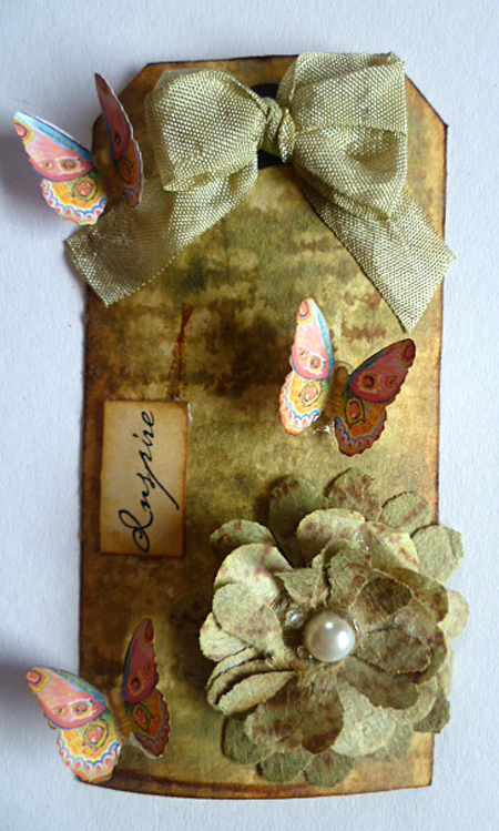 Butterfly Paper Tag