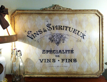 Chalk Paint Wine Sign Annie Sloan