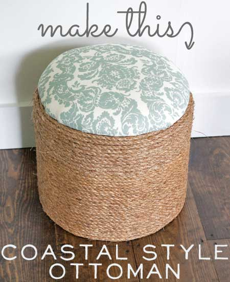 Make This Coastal Style Ottoman The Graphics Fairy
