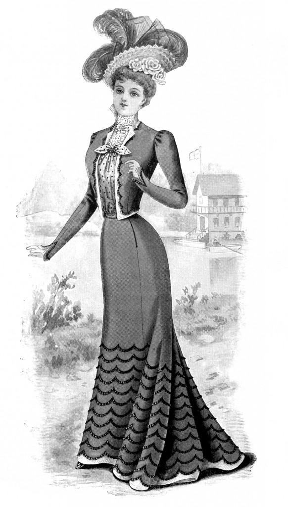 Fashion 1890's Ladies Women Free Stock Image Vintage