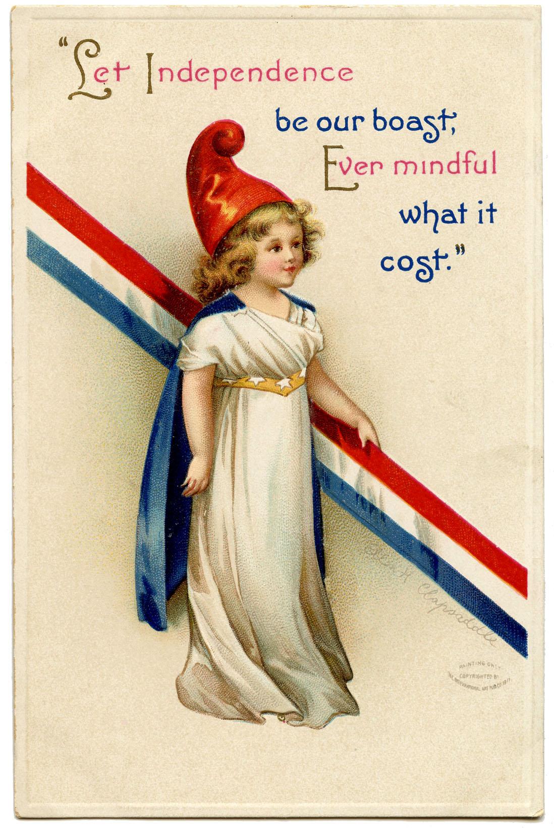 Free Vintage Patriotic Image Girl