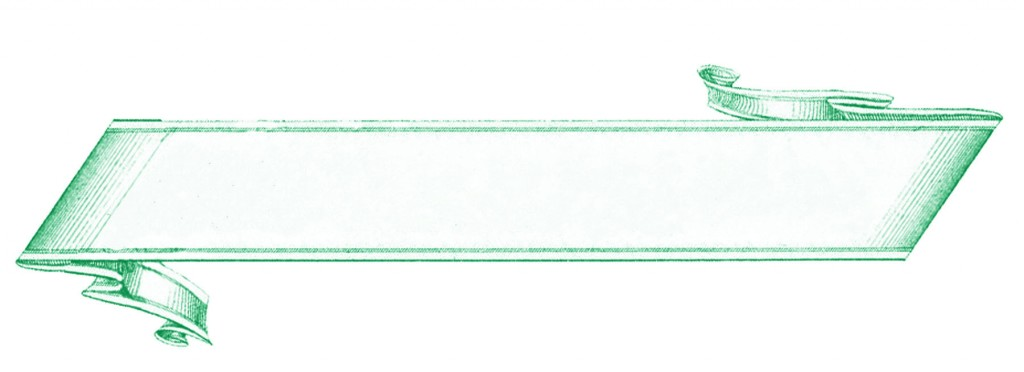 French Banner Label Green