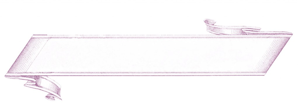 French Banner Label Purple