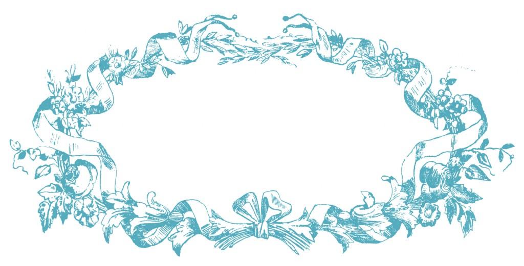 French Ribbon Frame Image Blue
