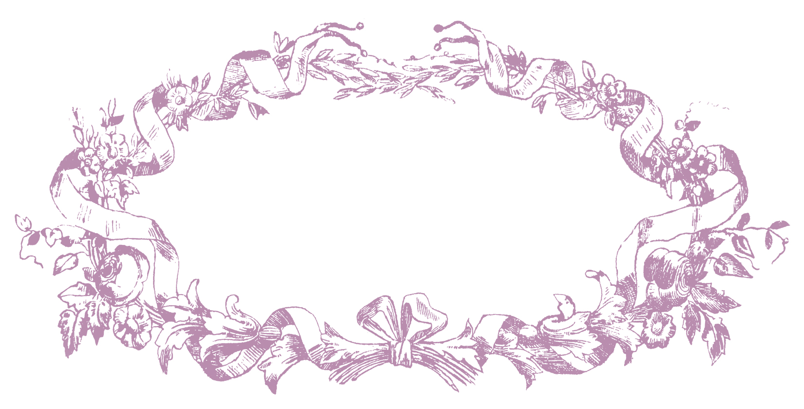 French Ribbon Frame Lyon Purple Image