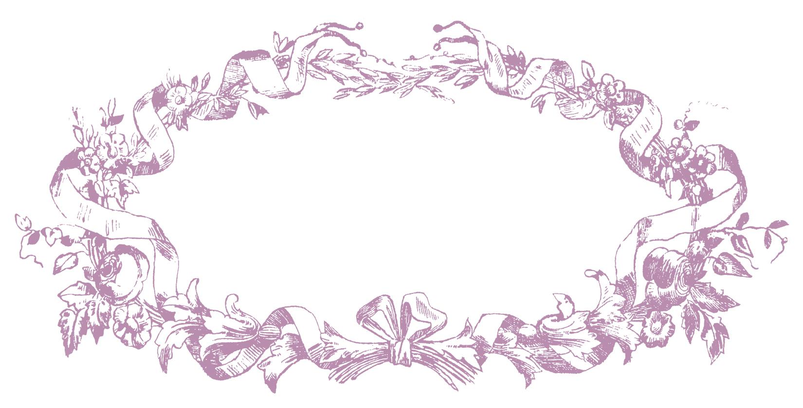 French Ribbon Frame Lyon Purple Image