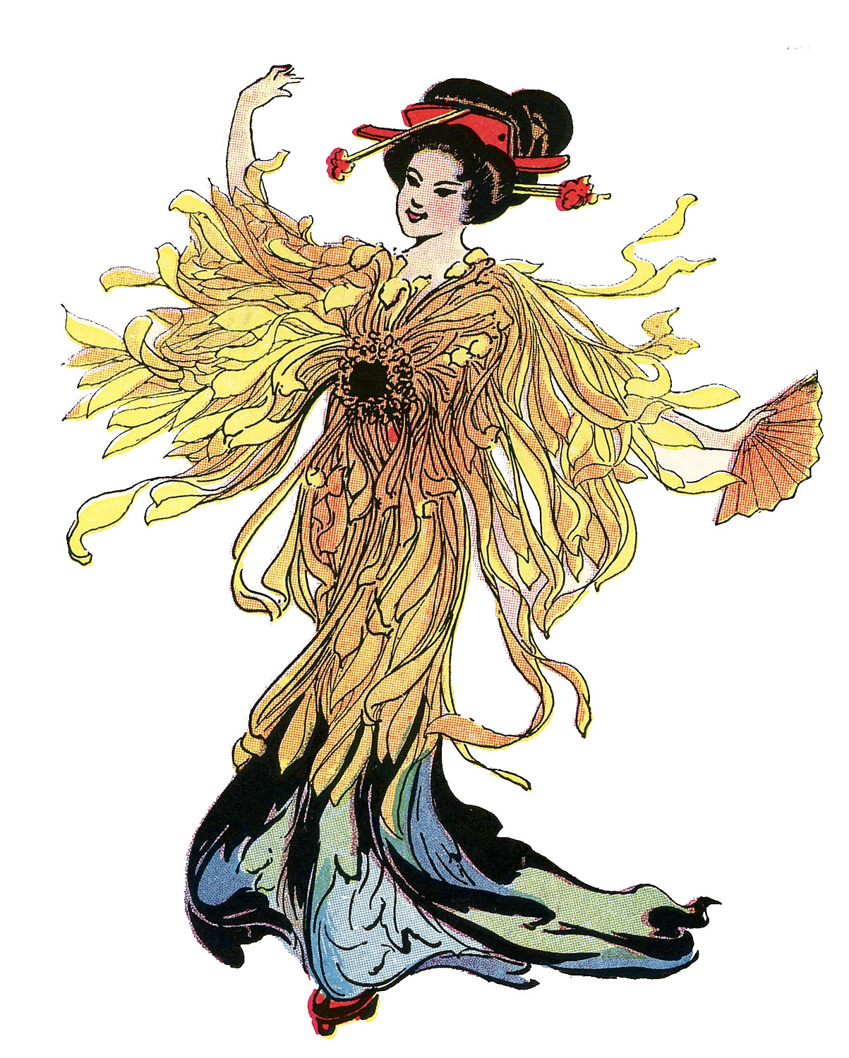 The Graphics Fairy: Japanese Flower Fairy