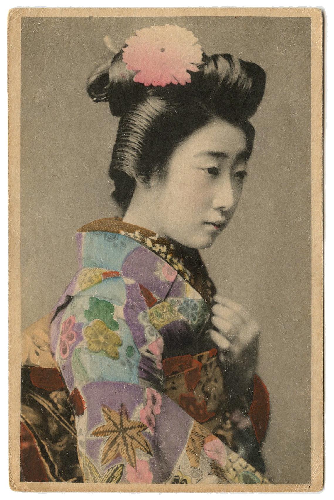 Old Japanese Photo Geisha Lady The Graphics Fairy