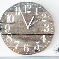 Pallet Wooden Clock DIY