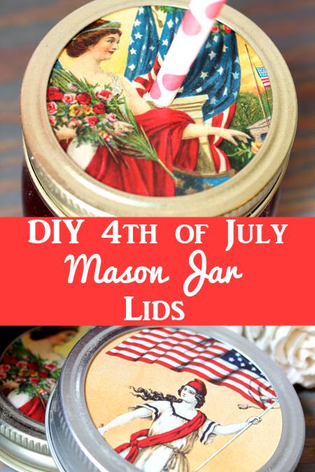 Patriotic Mason Jar Lids